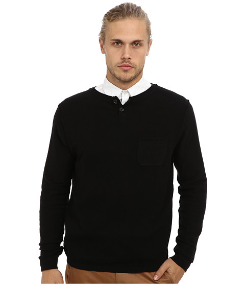 7 Diamonds - Coi L/S Shirt (Black) Men's Long Sleeve Pullover