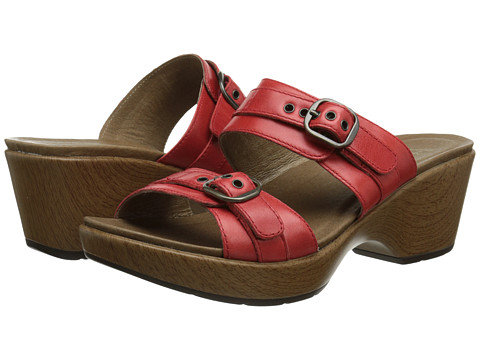 Dansko - Jessie (Red Full Grain) Women's Slide Shoes