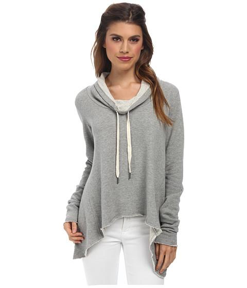 C&C California - Loopy French Terry Funnel Sweatshirt (Heather Grey) Women