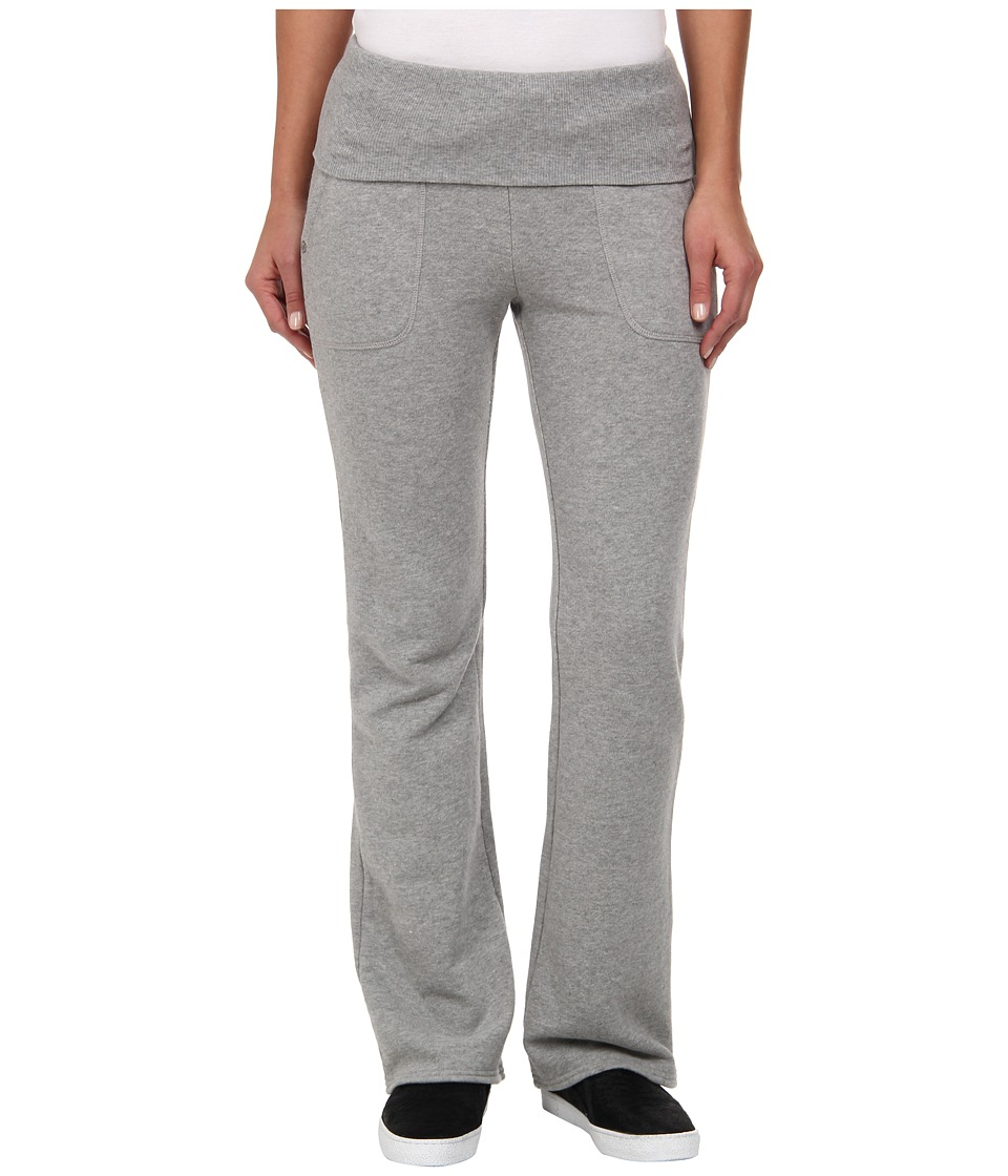 C&C California - Loopy French Terry Fold Over Pant (Heather Grey) Women's Casual Pants