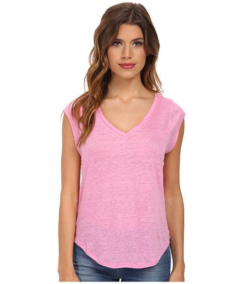 C&C California - Linen Jersey Muscle Tee (Fuchsia Pink) Women's T Shirt