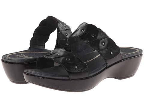 Dansko - Dee (Black Full Grain) Women's Slide Shoes