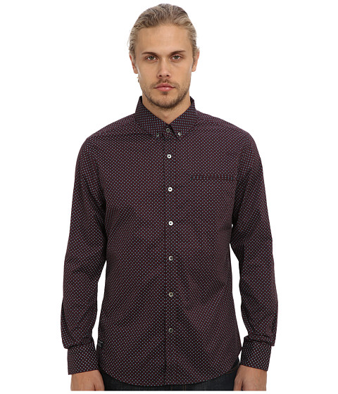 7 Diamonds - Night Void L/S Shirt (Plum) Men's Long Sleeve Button Up