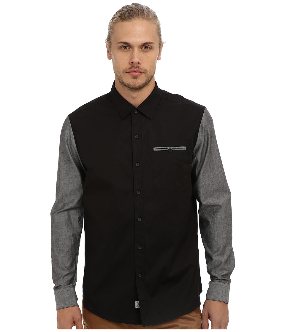 7 Diamonds - Make Us One L/S Shirt (Black) Men's Long Sleeve Button Up