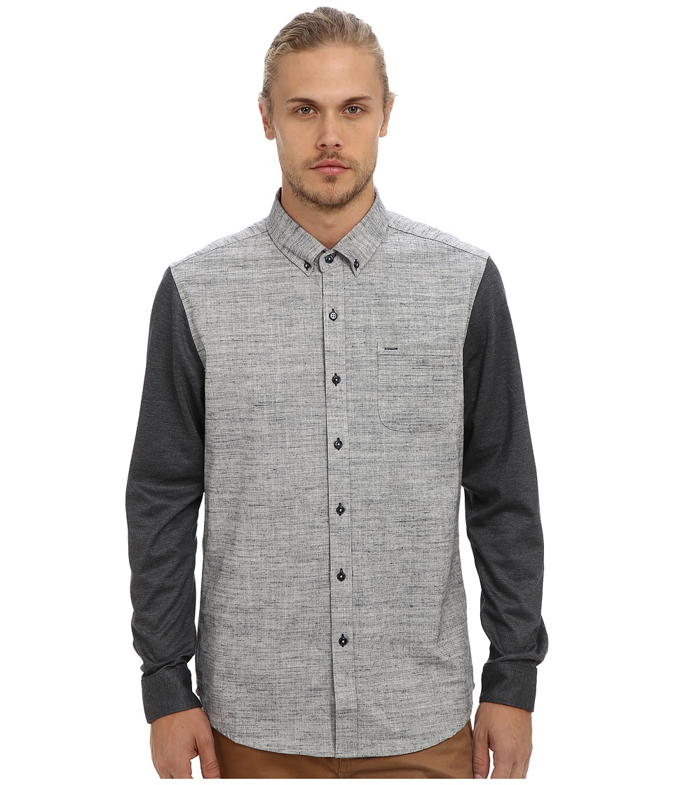 Image of 7 Diamonds - Against The Grain L/S Shirt (Slate) Men's Long Sleeve Button Up