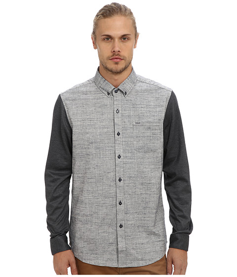 7 Diamonds - Against The Grain L/S Shirt (Slate) Men's Long Sleeve Button Up