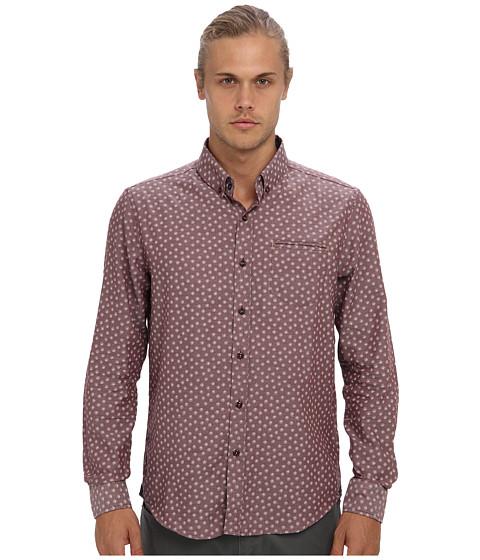 7 Diamonds - Velvet Morning L/S Shirt (Maroon) Men's Long Sleeve Button Up