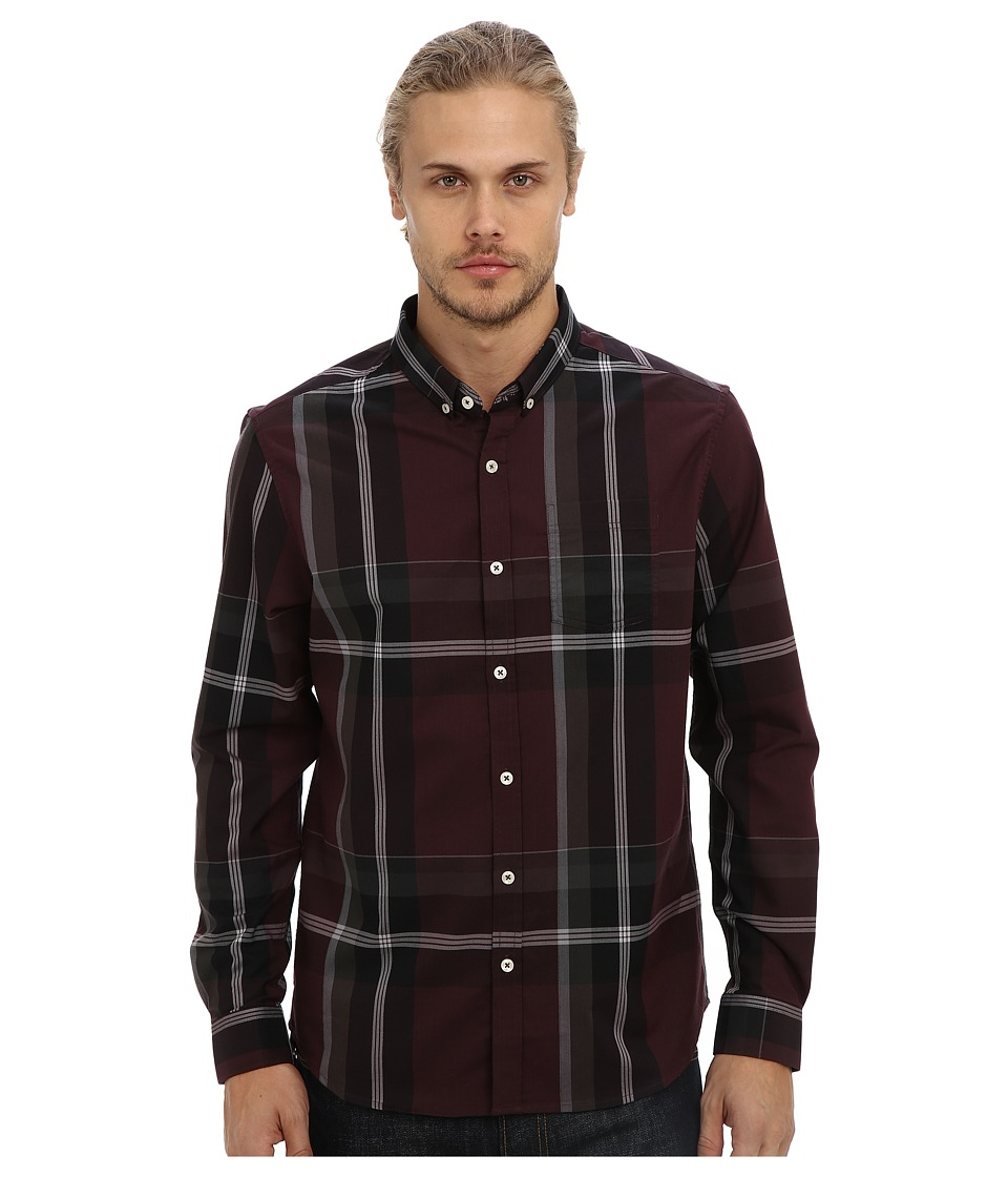 7 Diamonds - All In One L/S Shirt (Berry) Men