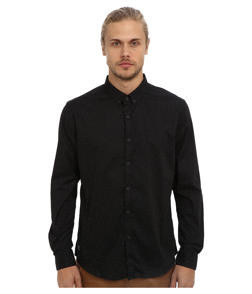 7 Diamonds - Black Refractions L/S Shirt (Black) Men's Long Sleeve Button Up