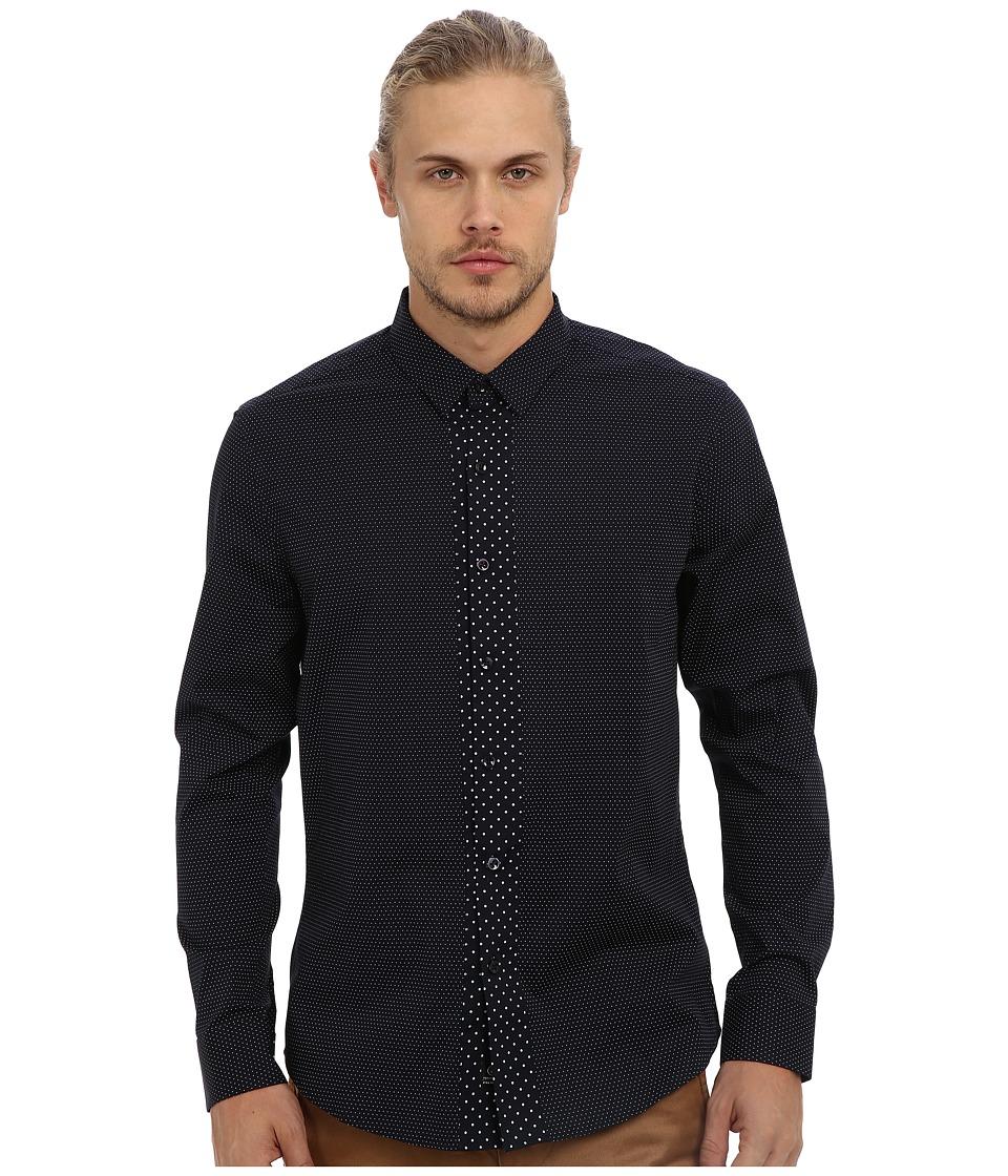 7 Diamonds - Modern Beat L/S Shirt (Navy) Men's Long Sleeve Button Up
