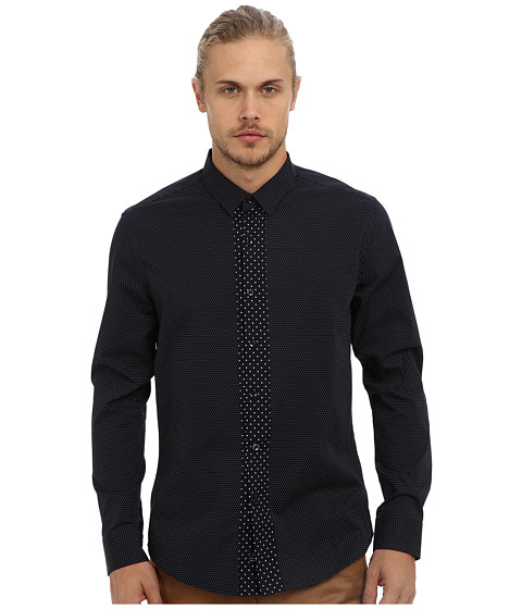7 Diamonds - Modern Beat L/S Shirt (Navy) Men