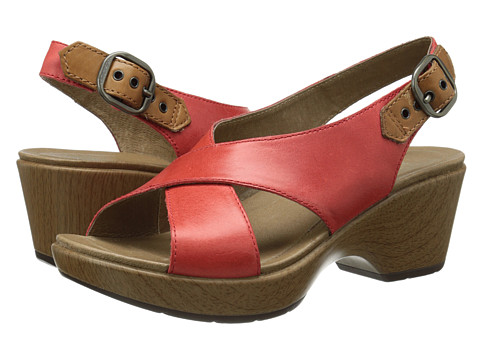 Dansko - Jacinda (Red Full Grain) Women's Sling Back Shoes