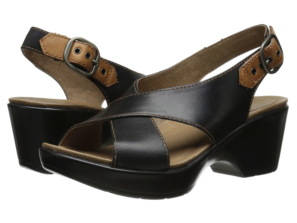 Dansko - Jacinda (Black Full Grain) Women's Sling Back Shoes