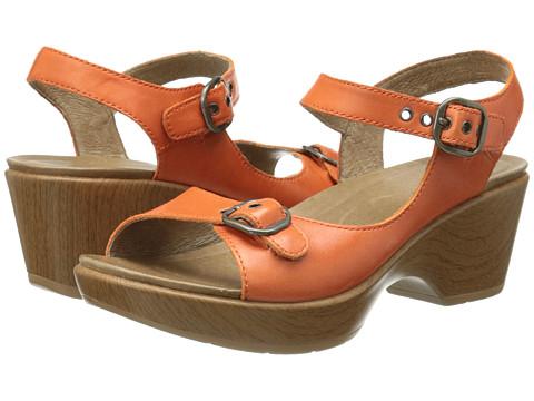 Dansko - Joanie (Tangerine Full Grain) Women's Sling Back Shoes