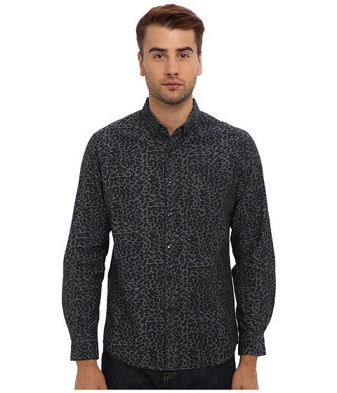 7 Diamonds - Animal Magnetism L/S Shirt (Charcoal) Men's Long Sleeve Button Up