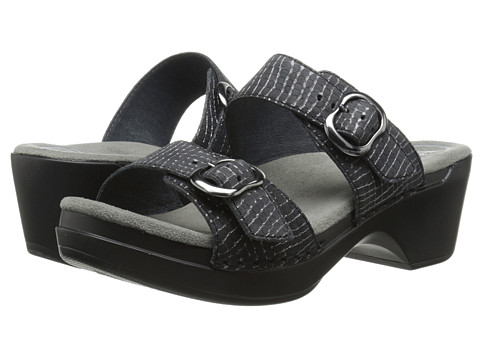 Dansko - Sophie (Black/Pewter Croc) Women's Sandals