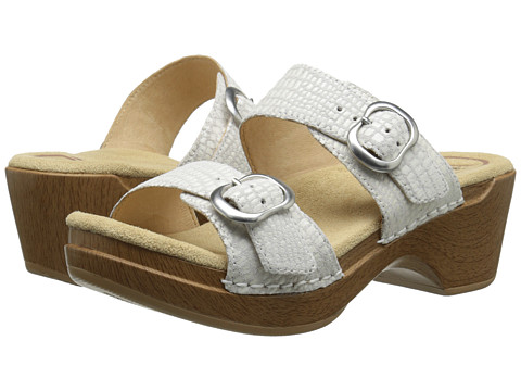 Dansko - Sophie (White Croc) Women's Sandals
