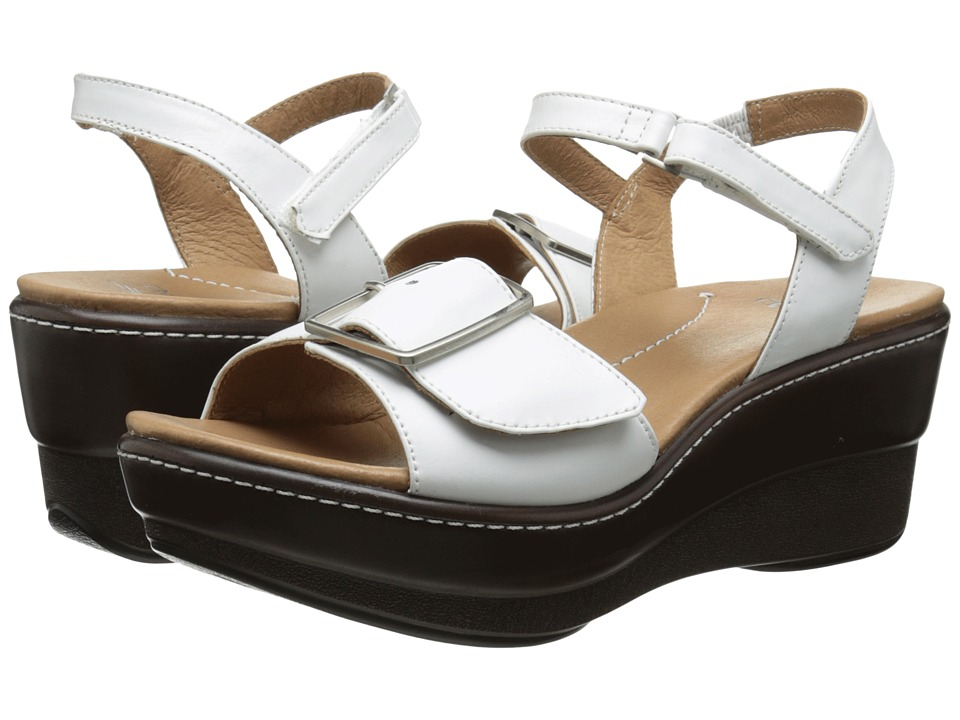 Dansko - Georgie (White Nappa) Women