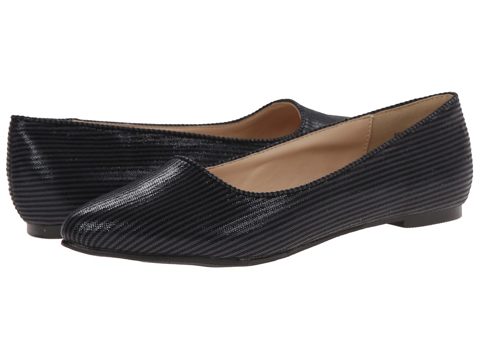 Annie - Poppy (Black) Women's Dress Flat Shoes