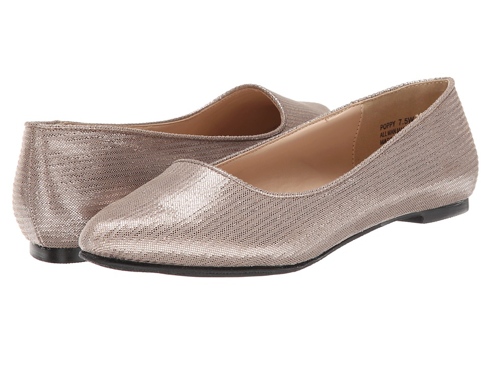 Annie - Poppy (Taupe) Women's Dress Flat Shoes