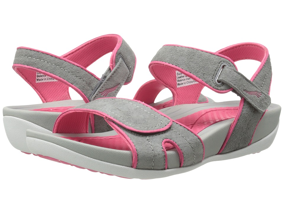 Dansko - Kami (Grey/Pink Suede) Women's Sandals