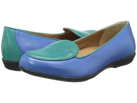 Dansko - Nastacia (Cobalt/Jade Nappa) Women's Slip on Shoes