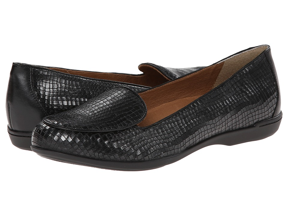 Dansko - Nastacia (Black Croc) Women's Slip on Shoes