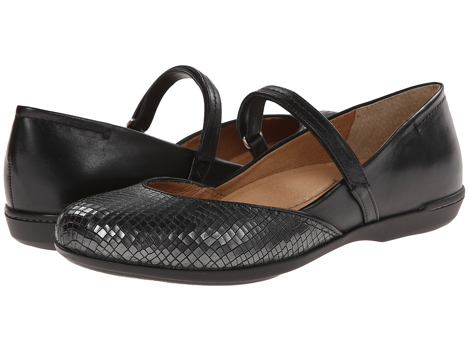 Dansko - Nanette (Black Croc) Women's Maryjane Shoes