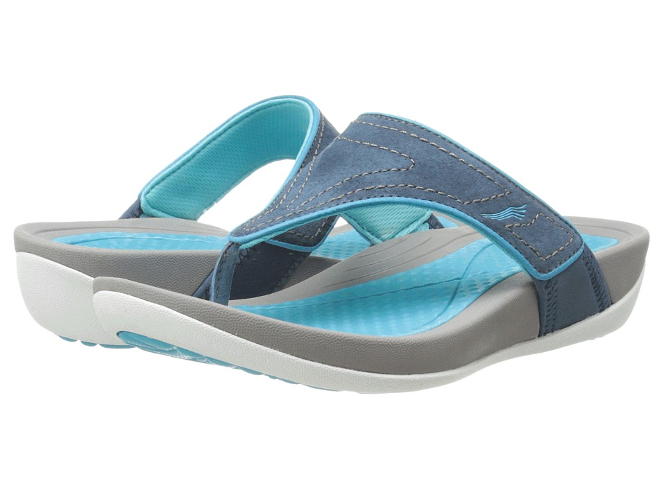 Dansko - Katy (Navy/Aqua Suede) Women's Sandals