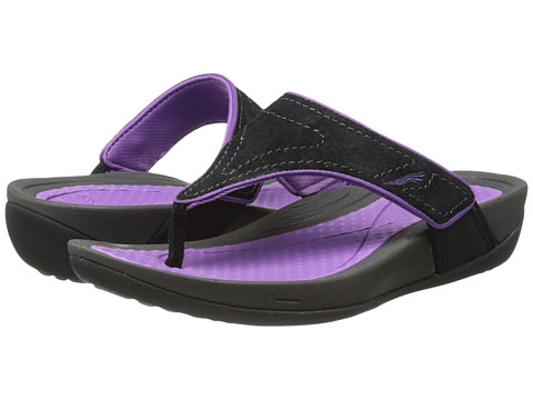 Dansko - Katy (Black/Orchid Suede) Women's Sandals