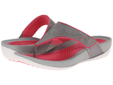 Dansko - Katy (Grey/Pink Suede) Women's Sandals