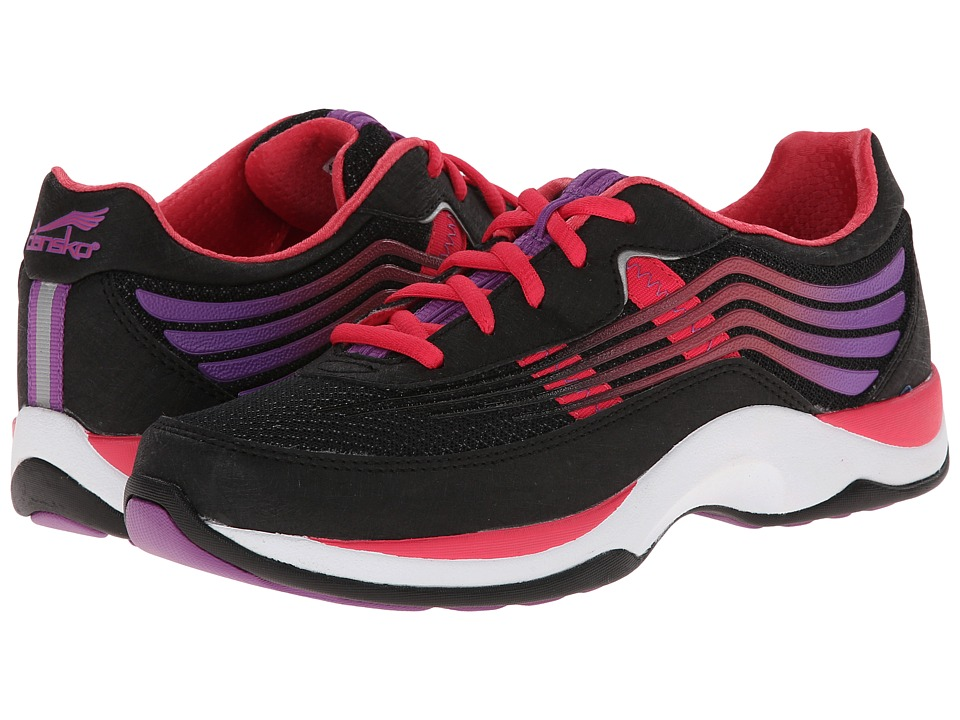 Dansko - Shayla (Black/Hot Pink Smooth) Women's Walking Shoes