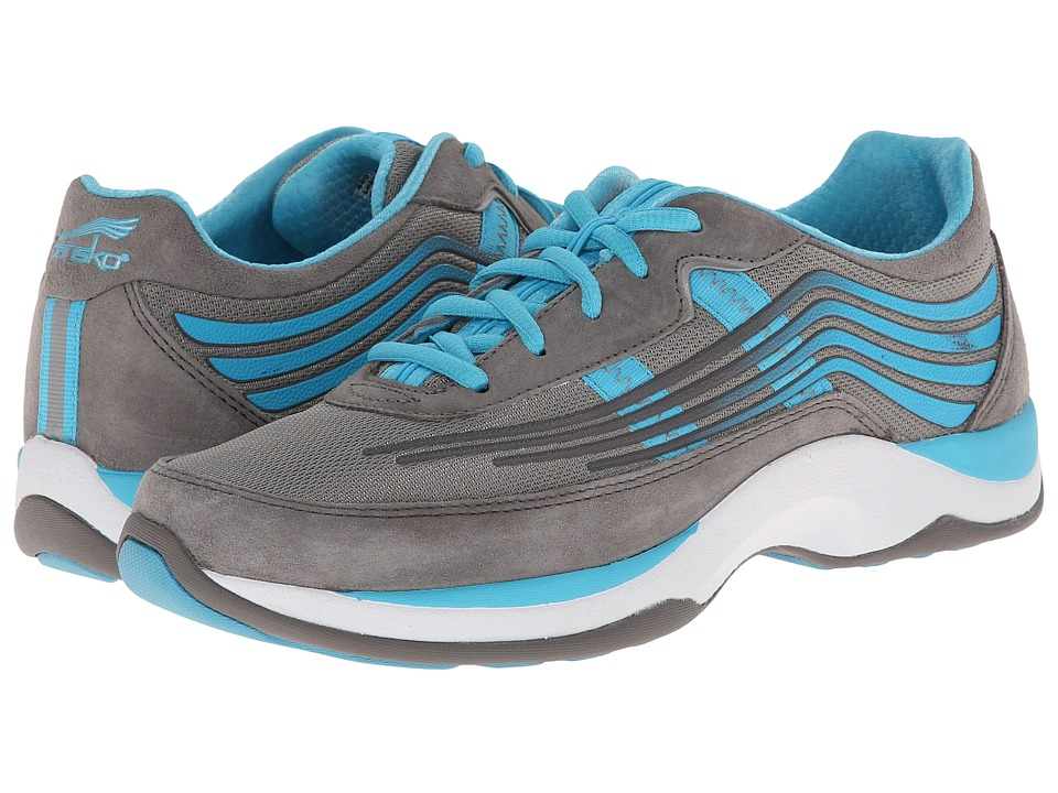 Dansko - Shayla (Grey/Aqua Suede) Women's Walking Shoes