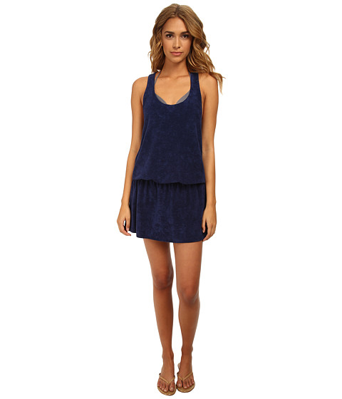 Splendid - Sunblock Solids Dress Cover-Up (Navy) Women's Dress