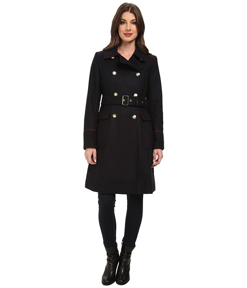 Vince Camuto - G8531 (Navy/Red) Women's Coat