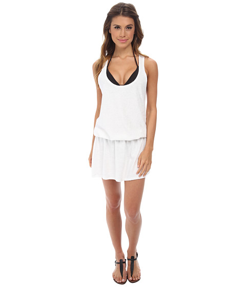 Splendid - Sunblock Solids Dress Cover-Up (White) Women's Dress