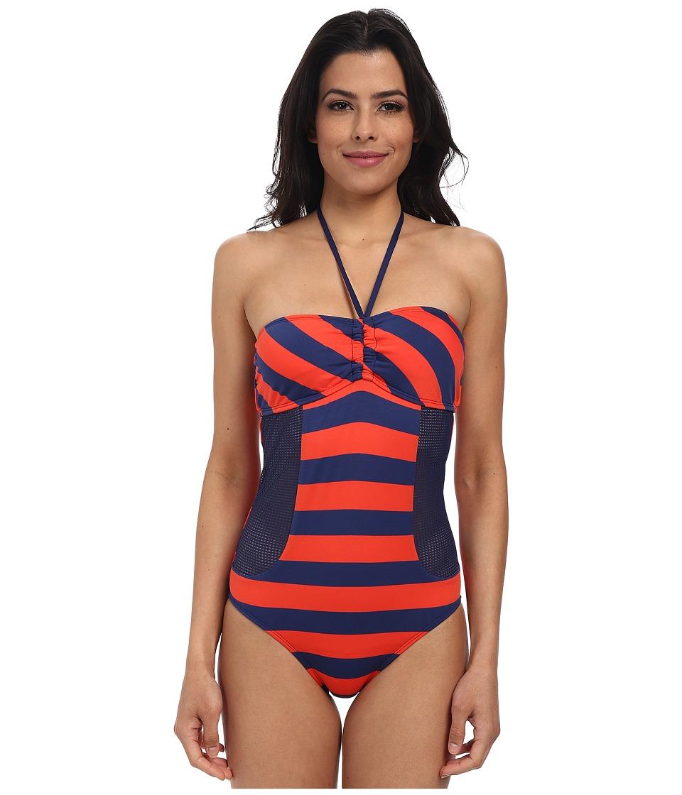 Splendid - Marcel Stripe Rem S/C One Piece (Red) Women's Swimsuits One Piece