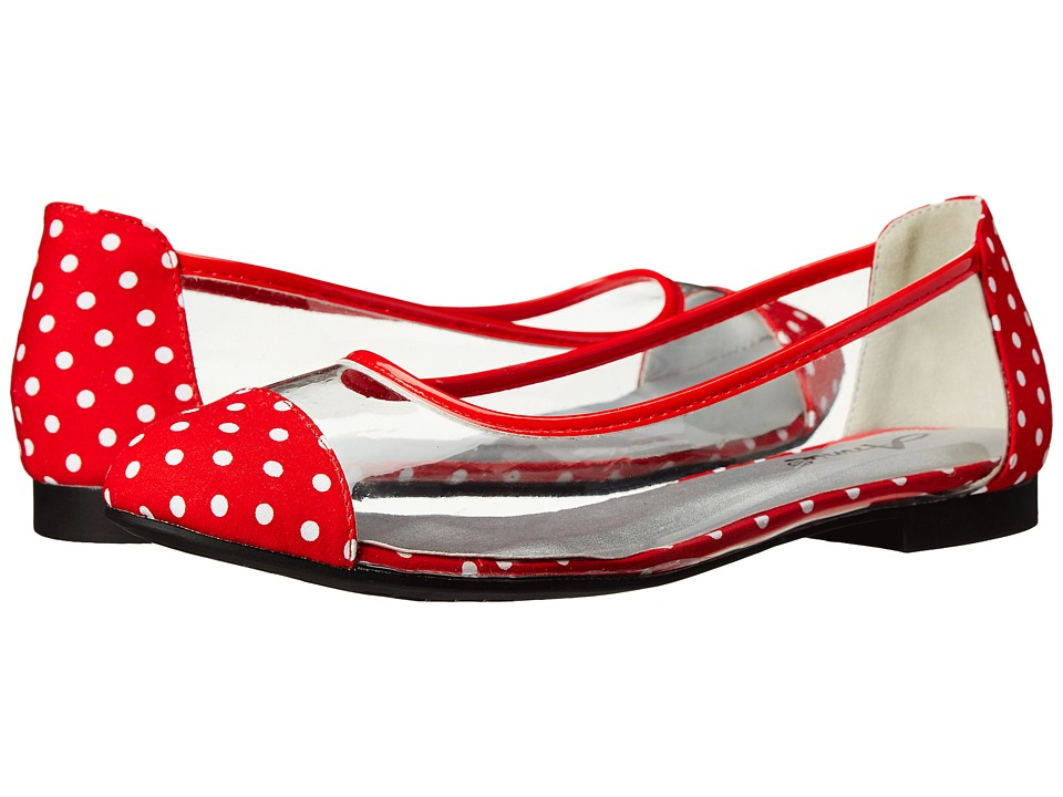 Annie - Easily (Red) Women's Dress Flat Shoes