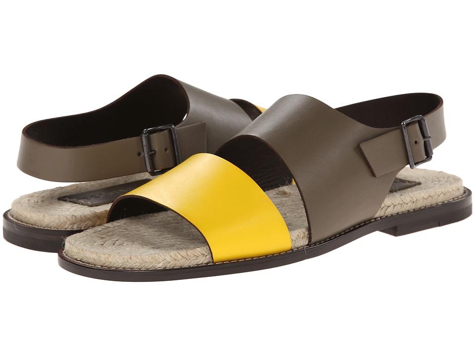 DSQUARED2 - Marlon Ankle Strap Sandal (Black/Military) Men