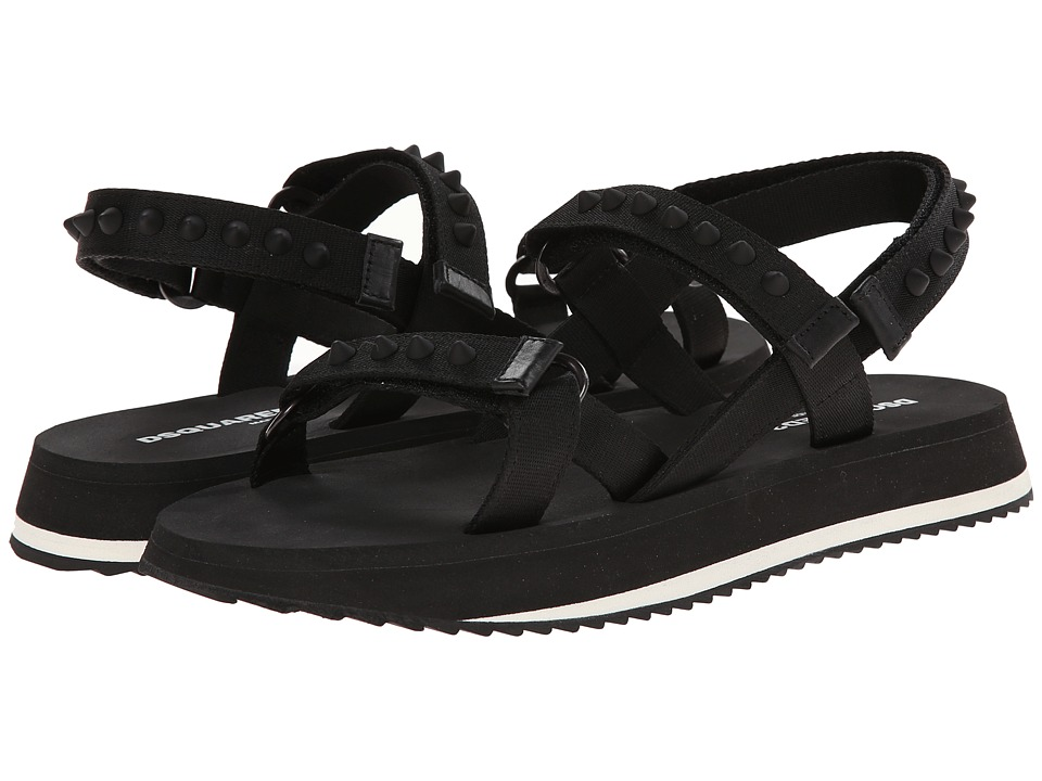 DSQUARED2 - Tel Aviv Strap Sandal (Black) Men's Sandals