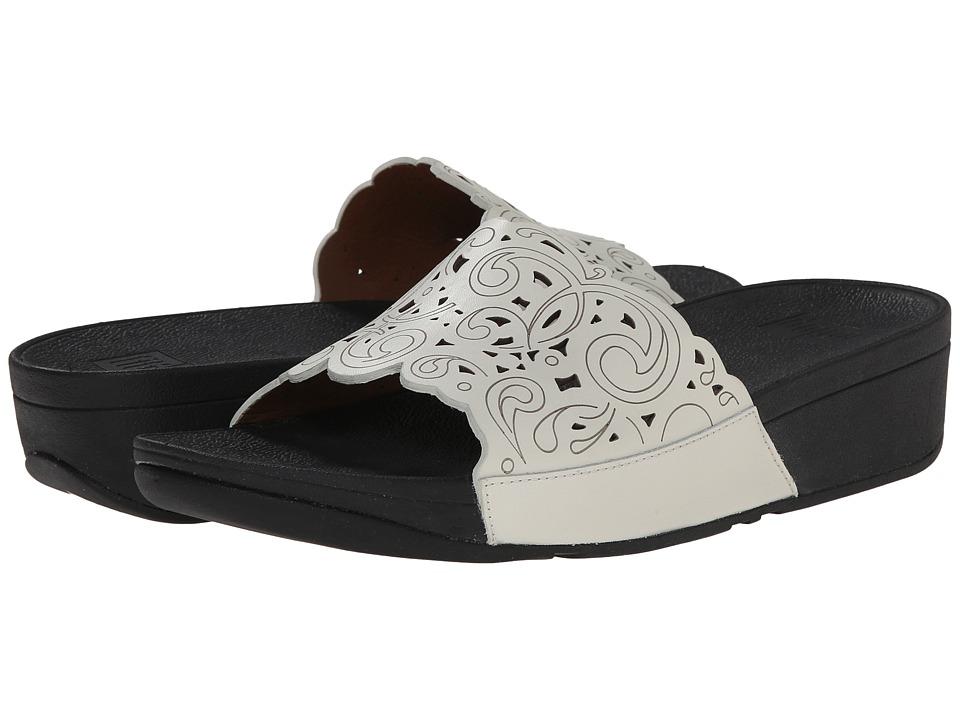 FitFlop - Flora Slide (Urban White) Women's Sandals