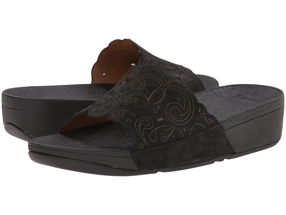FitFlop Flora Slide (Black) Women