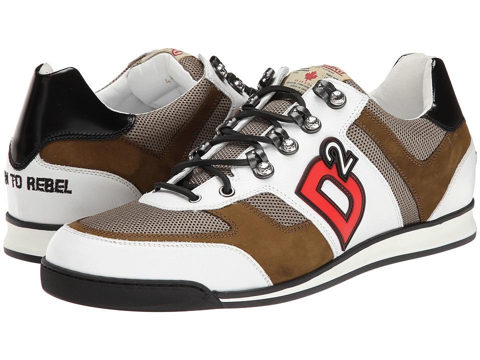 DSQUARED2 - Winner Sneaker (White/Military) Men's Shoes