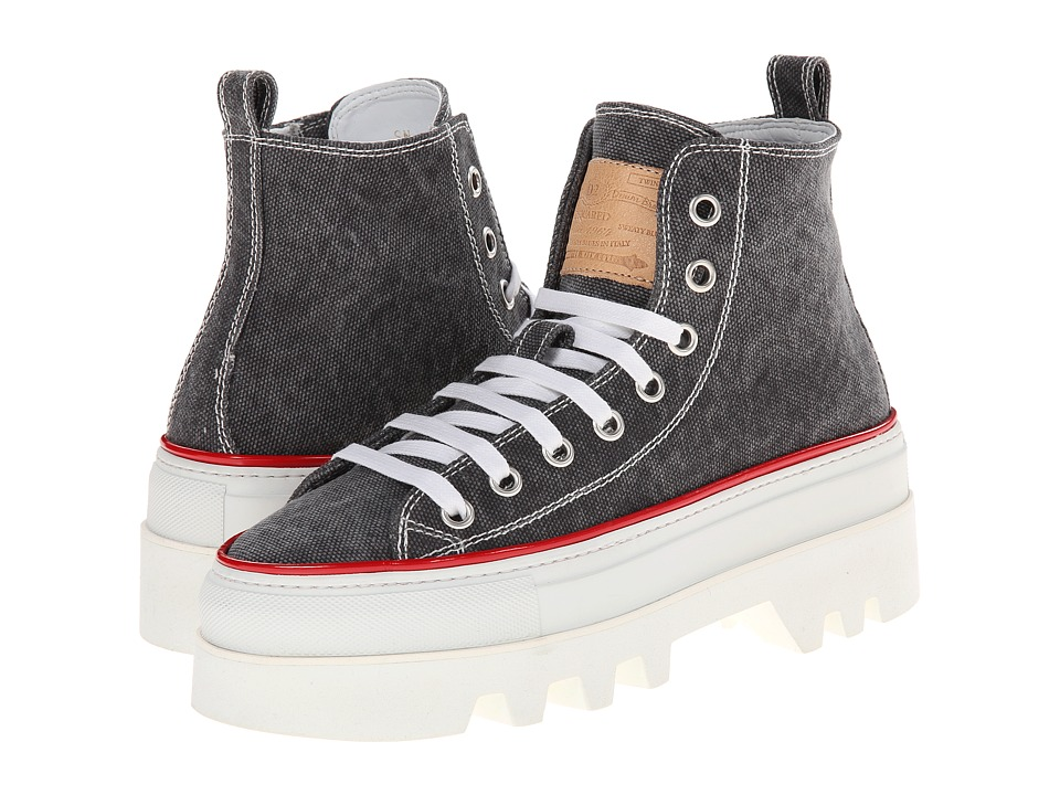 DSQUARED2 - Creeper High Top Sneaker (Grey) Men's Shoes