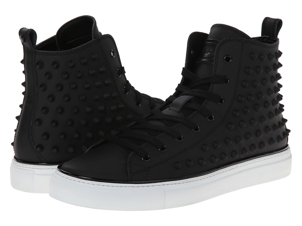 DSQUARED2 - Studded High Top Sneaker (Black) Men's Shoes