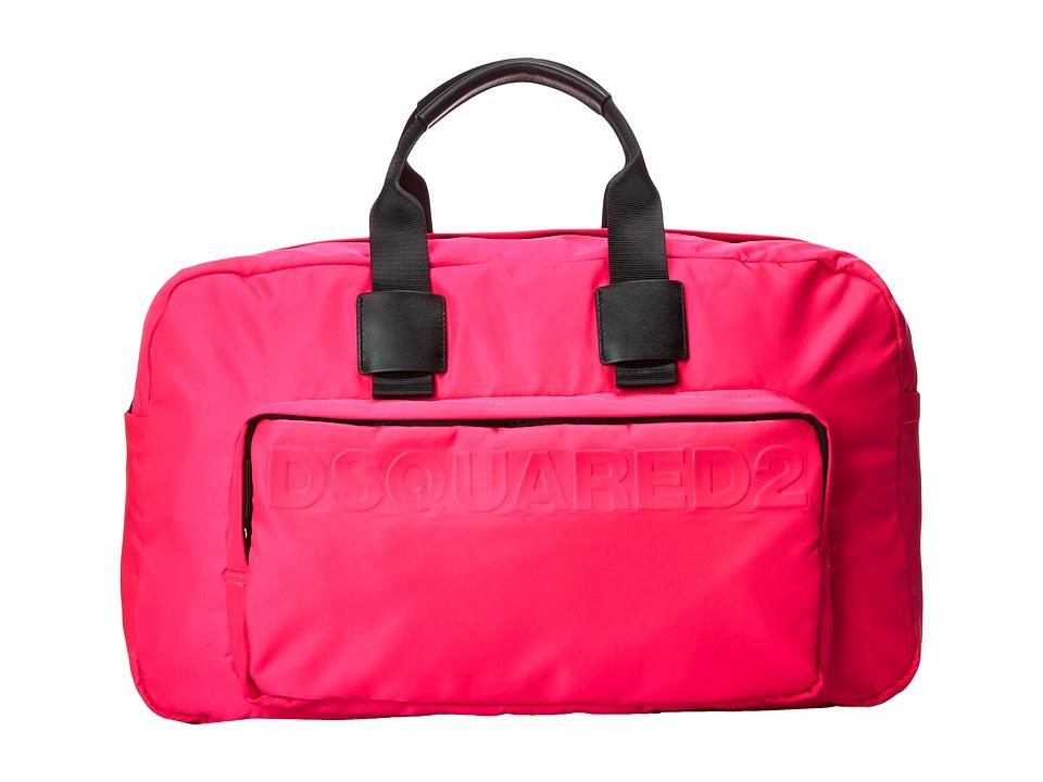 DSQUARED2 - Antony Duffle Bag (Fluorescent Fuchsia) Duffel Bags