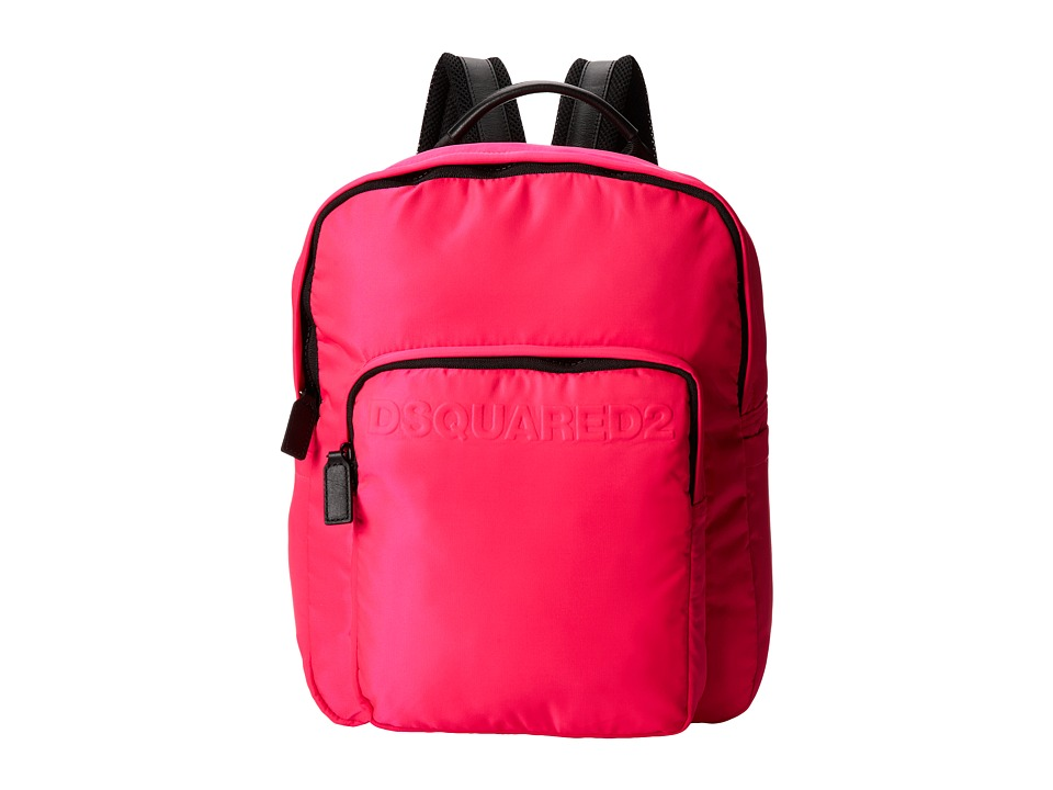 DSQUARED2 - Antony Backpack (Fluorescent Pink) Backpack Bags