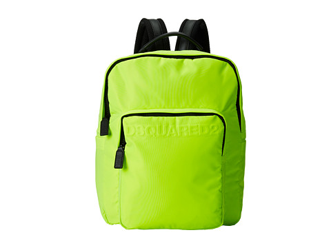 DSQUARED2 - Antony Backpack (Fluorescent Yellow) Backpack Bags
