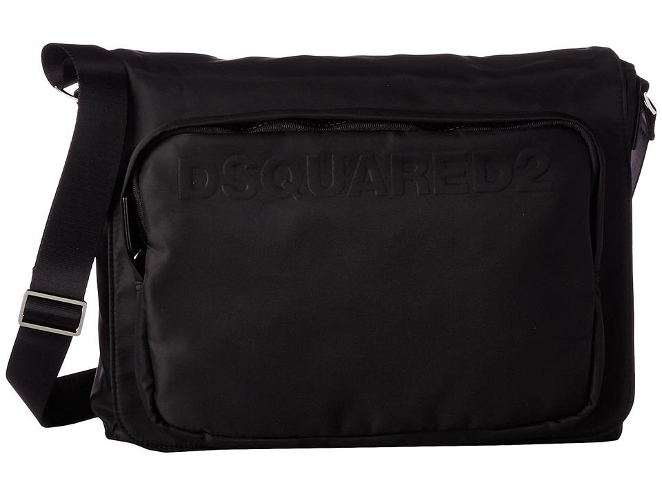 DSQUARED2 - Antony Messenger Bag (Black) Messenger Bags