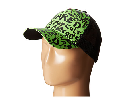 DSQUARED2 - Pop Print Baseball Cap (Fluorescent Green) Baseball Caps
